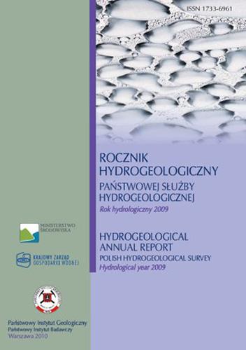 Rocznik hydrogeologiczny Państwowej Służby Hydrogeologicznej 2009