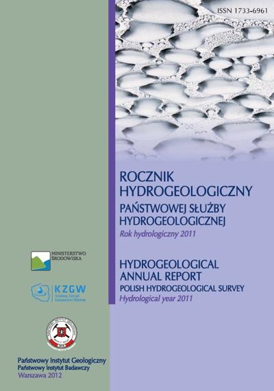 Rocznik hydrogeologiczny Państwowej Służby Hydrogeologicznej 2011