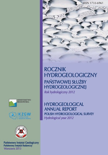 Rocznik hydrogeologiczny Państwowej Służby Hydrogeologicznej 2012