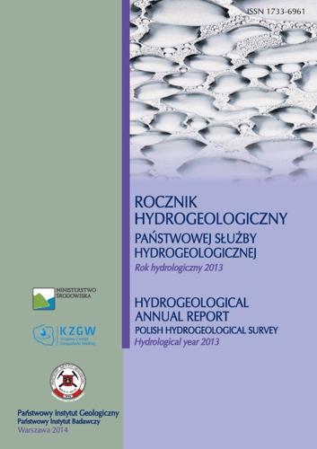 Rocznik hydrogeologiczny Państwowej Służby Hydrogeologicznej  2013