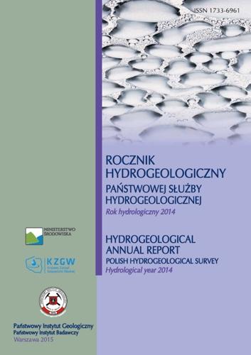 Rocznik hydrogeologiczny Państwowej Służby Hydrogeologicznej 2014