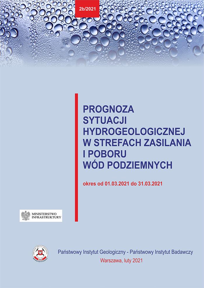 Prognoza sytuacji hydrogeologicznej w strefach zasilania i poboru wód podziemnych 01.03.2021 - 31.03.2021