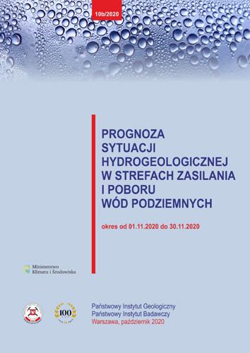 Prognoza sytuacji hydrogeologicznej w strefach zasilania i poboru wód podziemnych 01.11.2020 - 30.11.2020