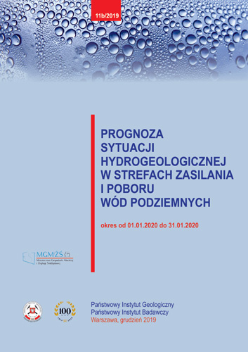 Prognoza sytuacji hydrogeologicznej w strefach zasilania i poboru wód podziemnych 01.01.2020 - 31.01.2020