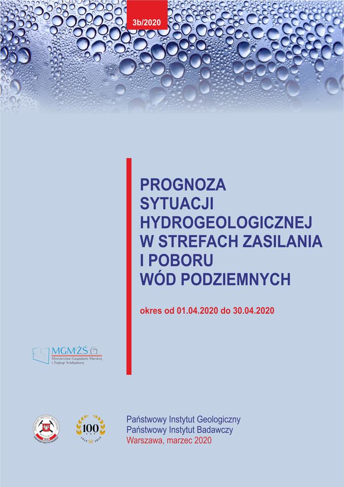 Prognoza sytuacji hydrogeologicznej w strefach zasilania i poboru wód podziemnych 01.04.2020 - 30.04.2020