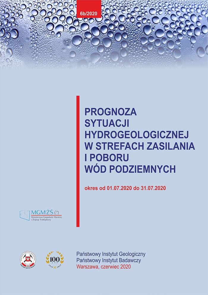 Prognoza sytuacji hydrogeologicznej w strefach zasilania i poboru wód podziemnych 01.07.2020 - 31.07.2020