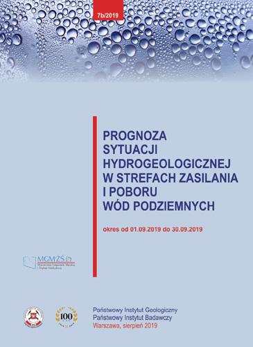 Prognoza sytuacji hydrogeologicznej w strefach zasilania i poboru wód podziemnych 01.09.2019 - 30.09.2019