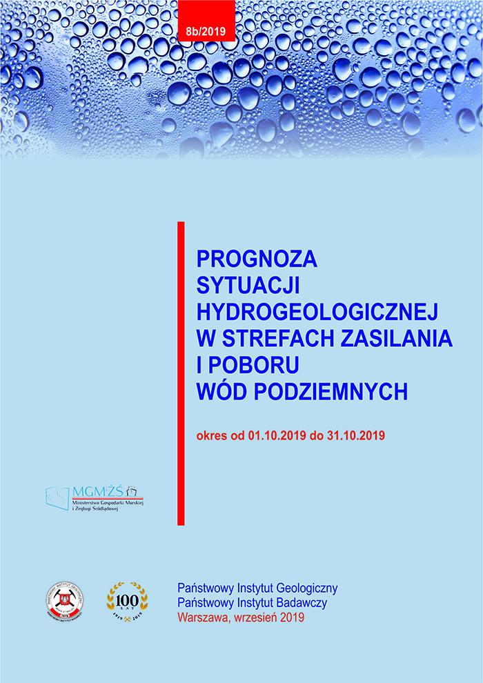 Prognoza sytuacji hydrogeologicznej w strefach zasilania i poboru wód podziemnych 01.10.2019 - 31.10.2019