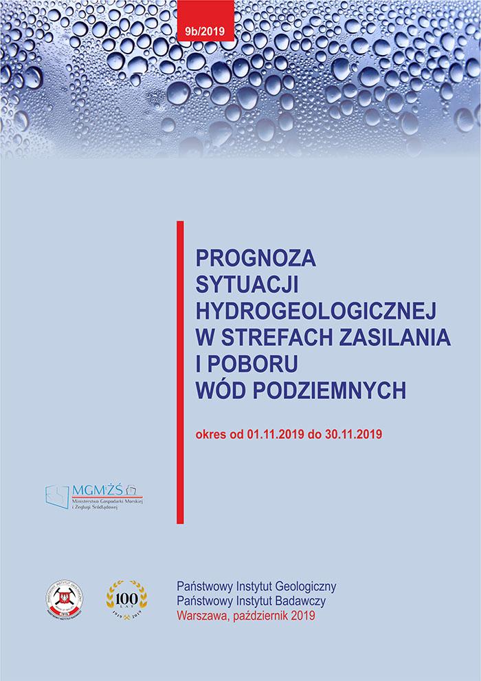 Prognoza sytuacji hydrogeologicznej w strefach zasilania i poboru wód podziemnych 01.11.2019 - 30.11.2019