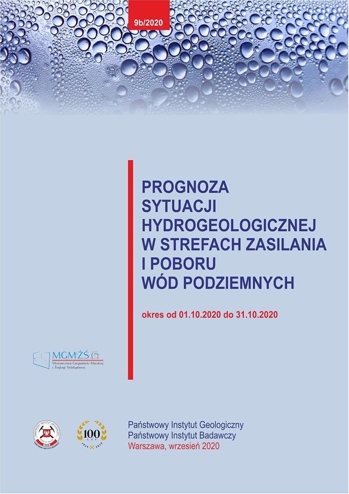 Prognoza sytuacji hydrogeologicznej w strefach zasilania i poboru wód podziemnych 01.10.2020 - 31.10.2020