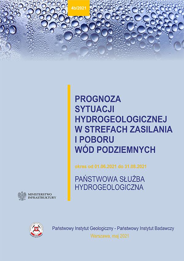 Prognoza sytuacji hydrogeologicznej w strefach zasilania i poboru wód podziemnych 1.06.2021 - 31.08.2021