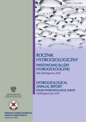 Rocznik hydrogeologiczny Państwowej Służby Hydrogeologicznej 2020