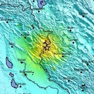 trzęsienie ziemi Irak - Iran